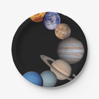 Planetas de la Sistema Solar Platos De Papel