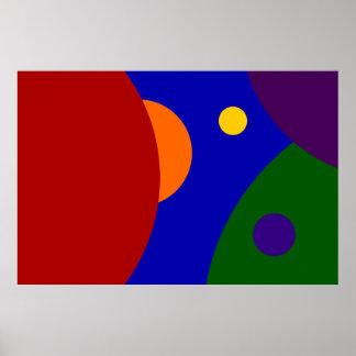 Planetas del arco iris póster