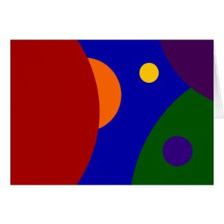 Planetas del arco iris tarjeta de felicitación