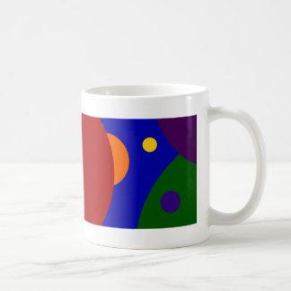 Planetas del arco iris taza básica blanca