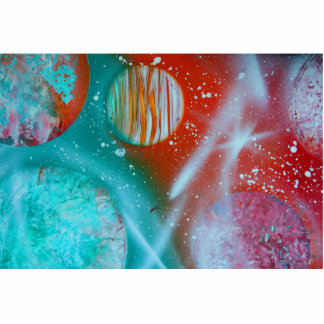 planetas del rojo anaranjado del trullo spacepaint