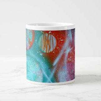 planetas del rojo anaranjado del trullo spacepaint taza extra grande