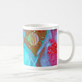 planetas del rojo anaranjado del trullo taza básica blanca