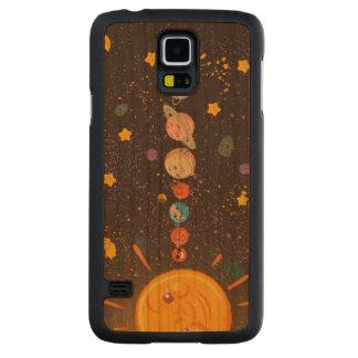 Planetas divertidos de la Sistema Solar Funda De Galaxy S5 Slim Cerezo