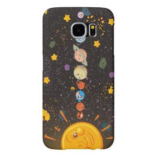 Planetas divertidos de la Sistema Solar Fundas Samsung Galaxy S6