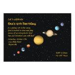 Planetas en la invitación del espacio invitación 12,7 x 17,8 cm