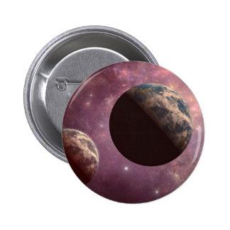 Planetas en un universo rosado pin