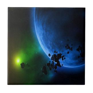 Planetas extranjeros azulejo