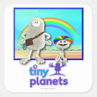 Planetas minúsculos - fabricación de los arco iris colcomania cuadrada