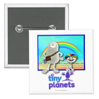 Planetas minúsculos - fabricación de los arco iris pin cuadrado