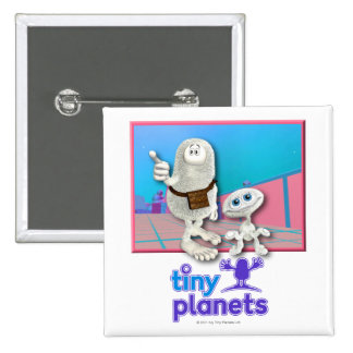 Planetas minúsculos - planeta de la materia pin cuadrado