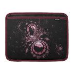 Planetas rosados bonitos del fractal funda para macbook air