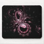 Planetas rosados bonitos del fractal alfombrillas de ratón
