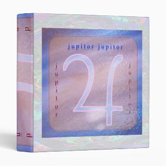 Planetas:  Símbolo de JUPITOR en la astrología Carpeta 2,5 Cm