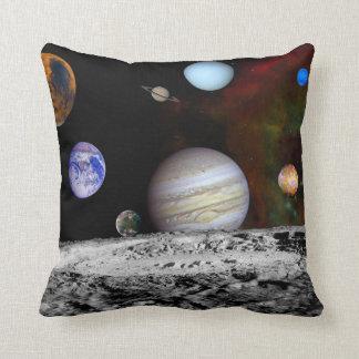 Planetas solares del sistema de espacio cojín