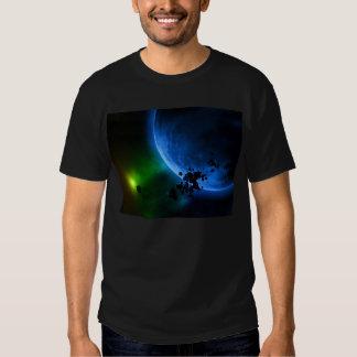Planetas y asteroides azules extranjeros camisas