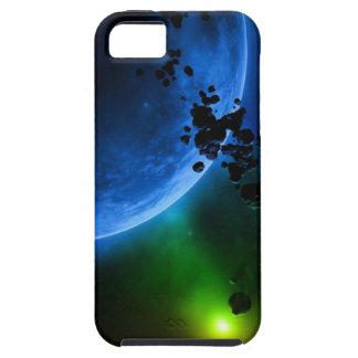 Planetas y asteroides azules extranjeros funda para iPhone SE/5/5s