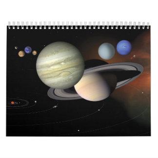 Planetas y calendario de la Sistema Solar 18 mth