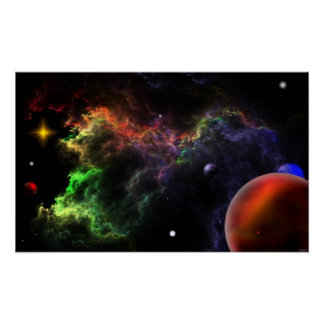 Planetoids In The Nebula Cluster Poster