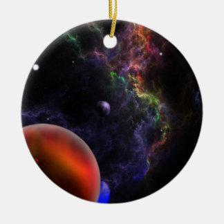Planetoids In The Nebula Cluster RR90 Ornament