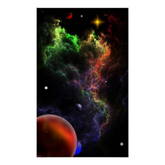 Planetoids In The Nebula Cluster RR90 Posters