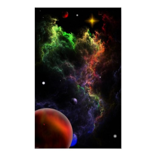 Planetoids In The Nebula Cluster RR90 Poster