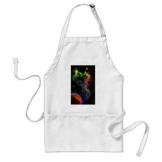 Planetoids In The Nebula Cluster Space Art Adult Apron