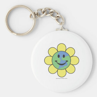 Planetpals-Flower Power Love Earth Design Keychain