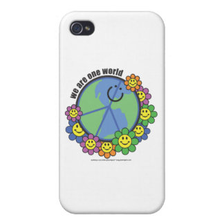 Planetpals-We Are One World Peace Love Earth iPhone 4 Cases