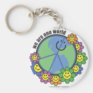 Planetpals-We Are One World Peace Love Earth Keychain