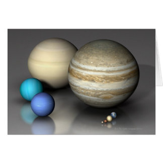 Planets 2 greeting card