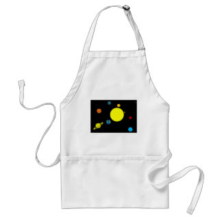 Planets Adult Apron