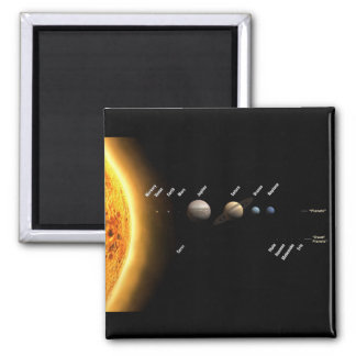 Planets and dwarf planets fridge magnet