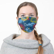 Planets and Logo Pattern Adult Cloth Face Mask