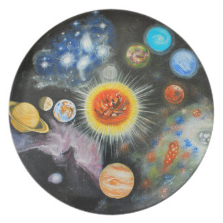 Planets and nebulae in a day dinner plates