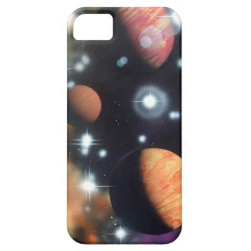 planets and stars in space iPhone 5 cover