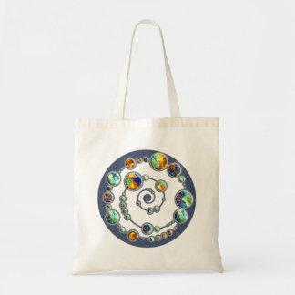 Planets crop circle formation + your backgr. color bag