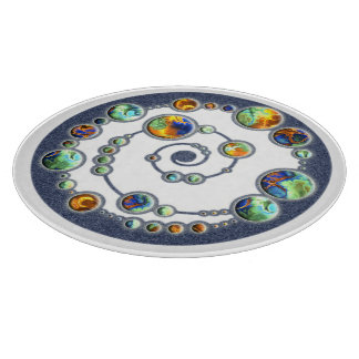 Planets crop circle formation + your backgr. color cutting board