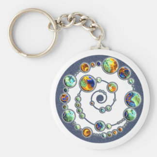 Planets crop circle formation + your backgr. color key chain