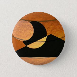 Planets Glow, Black and Copper, Graphic Design Pinback Button