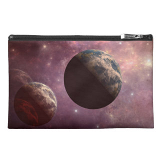 Planets in a Pink Universe Travel Accessory Bag