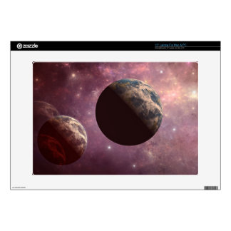 Planets in a Pink Universe Decal For Laptop