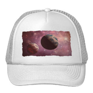 Planets in a Pink Universe Mesh Hat