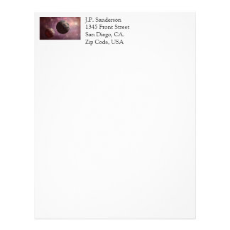 Planets in a Pink Universe Letterhead