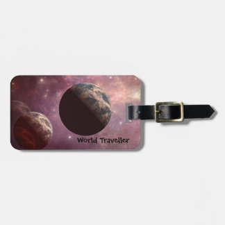 Planets in a Pink Universe Tag For Luggage