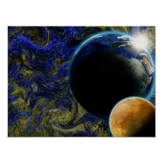 Planets in a Time Warp Poster