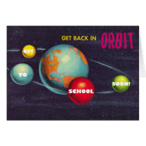 Planets in Orbit Back to School Card