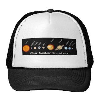 Planets of our Solar System In Order Outer Space Trucker Hat