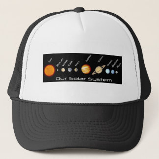 Planets of our Solar System In Order, Outer Space Trucker Hat
