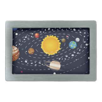 Planets of Solar System 2 Belt Buckle